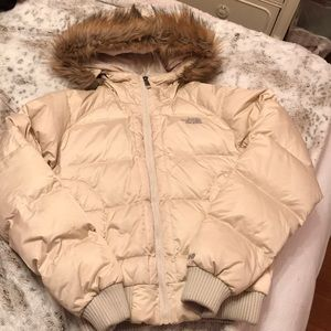 NORTH FACE BOMBER GOOSE DOWN JACKET WITH HOOD
